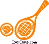 tennis racket and ball Vector Clip Art image