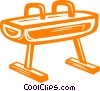 pommel horse Vector Clipart graphic