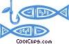 fish and hook Vector Clip Art picture