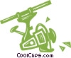Vector Clip Art picture  of a fishing reel