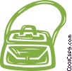 Vector Clip Art image  of a purse