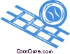 volleyball and net Vector Clip Art image