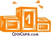 Vector Clipart image  of a podium