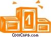 Vector Clip Art picture  of a podium