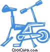 Vector Clipart graphic  of a stationary bike