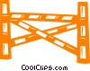 Vector Clipart image  of a hurdle