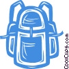 Vector Clipart illustration  of a knapsack