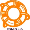 Vector Clip Art image  of a life ring