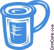 Vector Clip Art graphic  of a cup