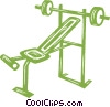 Vector Clipart graphic  of a weight set