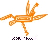 jackknife Vector Clip Art graphic