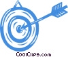 dartboard and dart Vector Clip Art picture