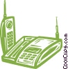 portable phone Vector Clipart picture
