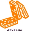 Vector Clip Art graphic  of a dominos