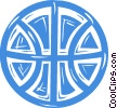 Vector Clipart picture  of a basketball