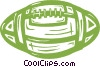 Vector Clip Art graphic  of a football