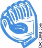 baseball glove Vector Clip Art graphic