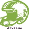 Vector Clipart image  of a football helmet