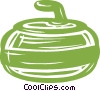 Vector Clip Art picture  of a curling rock