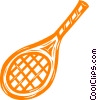Vector Clip Art graphic  of a tennis racket