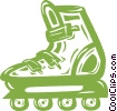 Vector Clipart graphic  of a roller blade