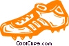 Vector Clip Art picture  of a shoe/cleat