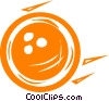 Vector Clipart picture  of a bowling ball