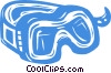 Vector Clip Art picture  of a goggles