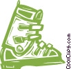 ski boot Vector Clipart picture