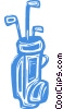 Vector Clipart graphic  of a golf clubs
