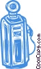 Vector Clip Art image  of a gasoline pump