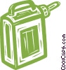 Vector Clip Art image  of a gasoline container