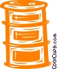 Vector Clip Art graphic  of a oil drum