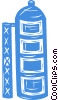 Vector Clipart illustration  of a silo