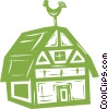 Vector Clipart illustration  of a barn