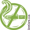 Vector Clip Art graphic  of a no smoking