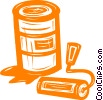 paint can and roller Vector Clipart illustration