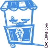 Vector Clip Art image  of a ice cream stand