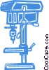 Vector Clip Art picture  of a drill press