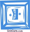 light switch Vector Clip Art picture