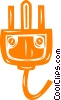Vector Clip Art graphic  of a electrical plug