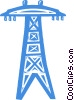 Vector Clipart image  of a power lines