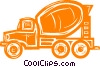 cement truck Vector Clipart illustration