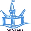 Vector Clipart illustration  of a oil rig