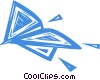Vector Clipart picture  of a paper airplane