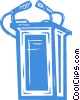 Vector Clip Art graphic  of a podium