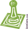 Vector Clip Art picture  of a chess piece