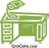 Vector Clipart image  of a office desk