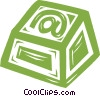 Vector Clipart image  of a @ computer key