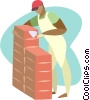 Vector Clipart image  of a Brick layer